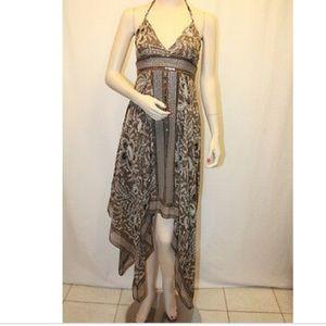 NWT BCBG woven Dress silk